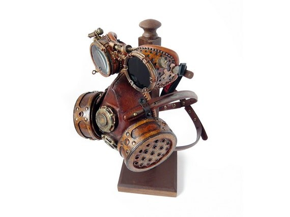 Steampunk gas mask and goggles