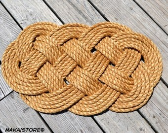 """Nautical Rope Doormat - Welcome Mat // Small (14"""" x 24"""" approx.)"""