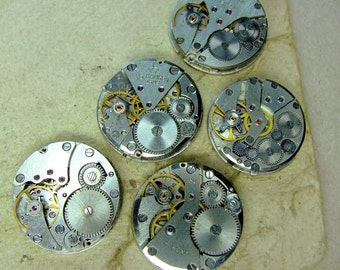Vintage watch movements - set of 5 - c44