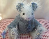 """OOAK Mohair Artist Mouse by Meece Amis  """"Pocket"""""""