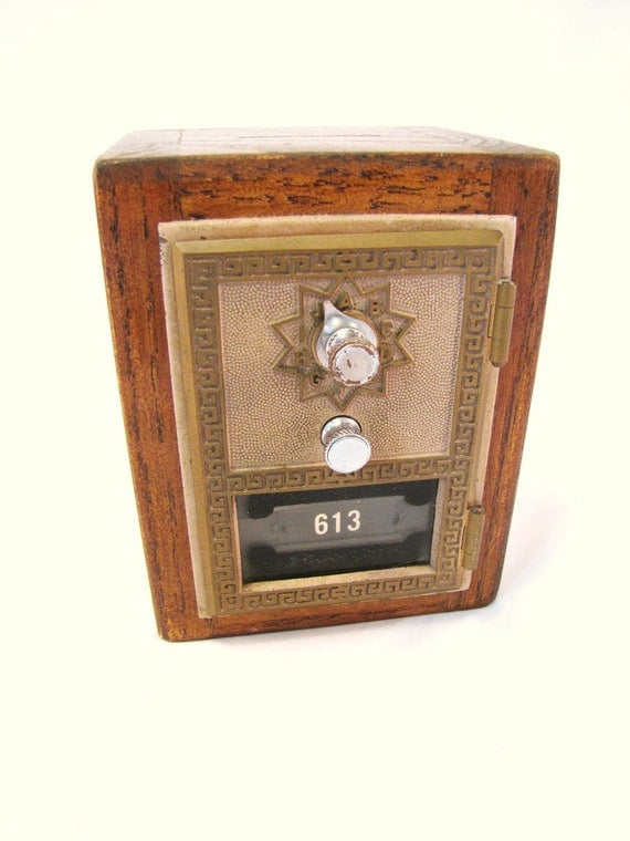 Vintage Post Office Box Upcycled Safe Bank