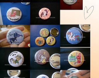 MLP:FiM custom made individual buttons