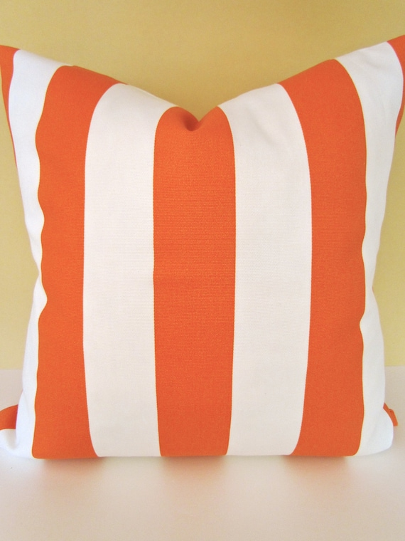Sale PILLOW COVERS 16x16 Decorative Throw Pillows ORANGE Outdoor Pillows Indoor Outdoor Throw Pillow Covers Home and living Housewares