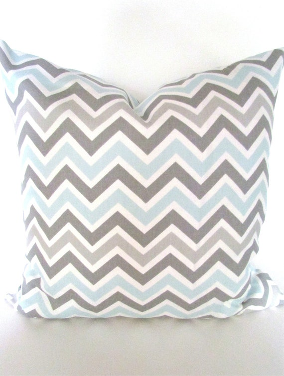 Items Similar To Baby Blue Pillow Grey Light Blue