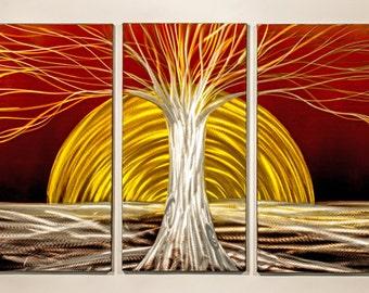 Modern Abstract Painting Metal Wall Art Sculpture Blossom