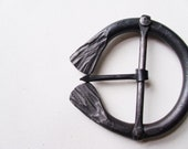 Hand Forged, Wrought Iron Belt Buckle In Medieval Antique Renaissance Viking Celtic Style