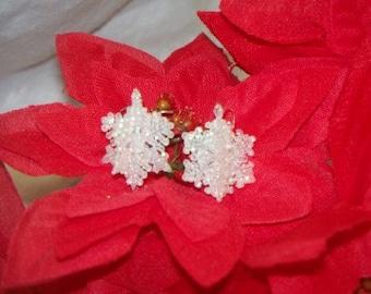 Sparkly Snowflake Dangle Earrings