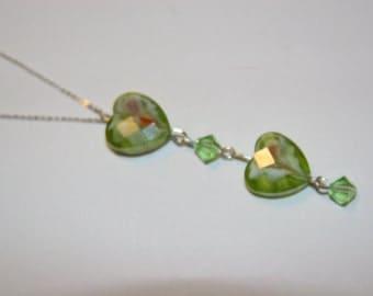 Heart and Swarvoski Necklace