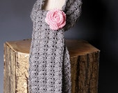 PDF PATTERN FILE - Lacy Shell Stitch Crochet Scarf Pattern