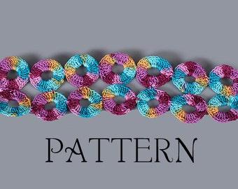 PDF PATTERN FILE - Lifesaver Links Crochet Bracelet Pattern