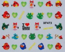 3D Decal Bird Love Frog Hen Prince Nail Decal DIY Stickers