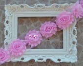 1/2 Yard Shabby Frayed Fabric Flowers Wholesale - LIGHT PINK - Wholesale Embellishments - Frayed Flowers - Chiffon Flowers