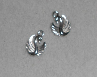 Silver Swan Charms