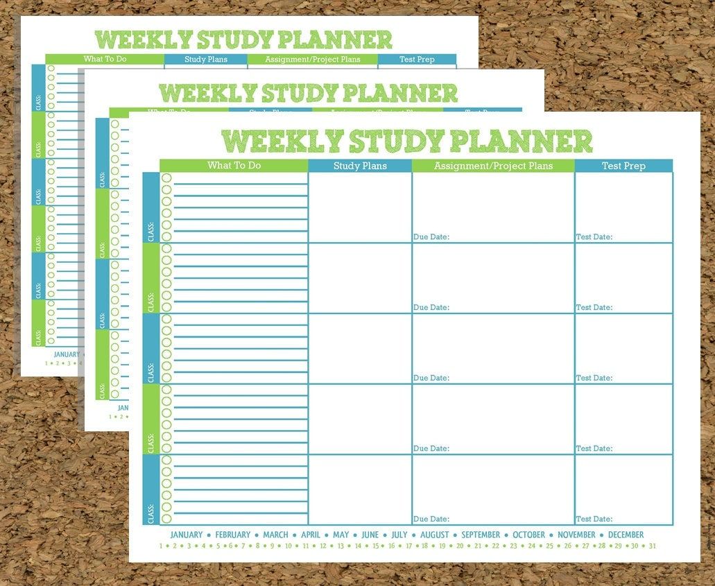Free Study Planner - Study Less With Better Results ...