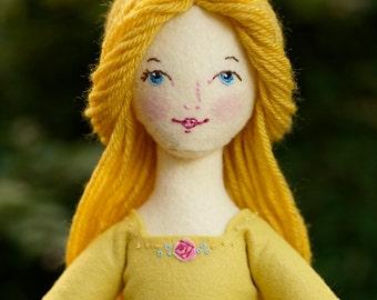 Beauty - PDF ePattern Wool Felt Doll