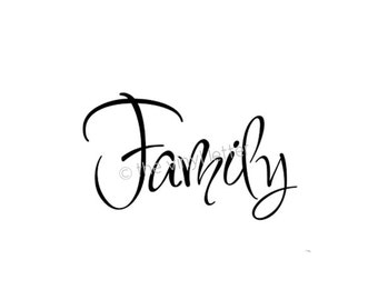 Family Vinyl Wall Decor Decal Sticker