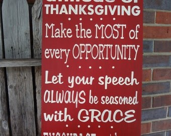 Colossians 4 Hand Painted Sign