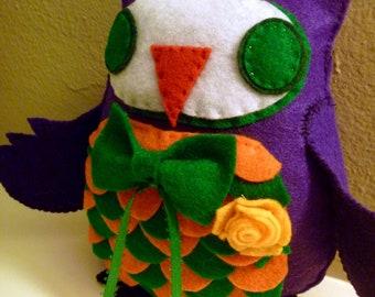 Batman Joker Inspired Owl Plush