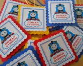 Thomas the Train Inspired Party Favor Tags- Customized with name