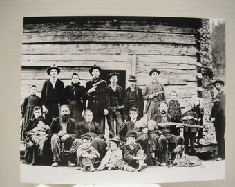 1897 William 'Devil' Anse Hatfield of West Virginia family photo 8 x 10 reprint