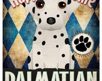 Dalmatian Pampered Pups Original Art Print - 11x14 - Dog Poster - Dogs Incorporated