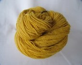 RESERVED for JENNY Marigold Naturally Dyed Merino Wool Yarn - Fingering Weight - 437 yards - M-2