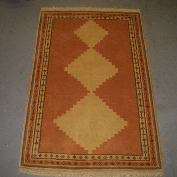20% OFF SALE! - 1980s Hand-Knotted Romanian Ardebil Style Rug