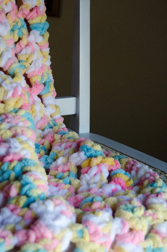 Baby Soft Crochet Afghan Blanket Photo Prop