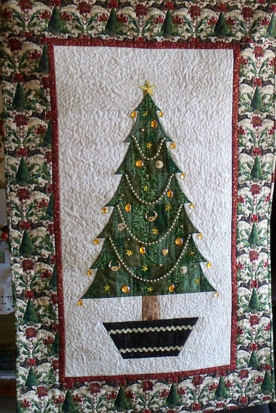 Quilt Pattern pdf CHRISTMAS TREE by AnniesQuiltCraft on Etsy