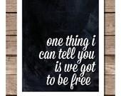 Inspirational The Beatles Typography 4 Piece Print Poster Set of Lyrics