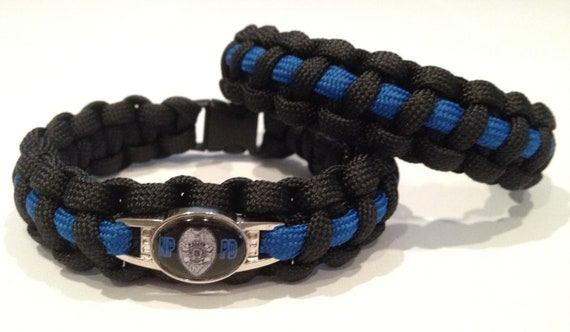 paracord survival bracelet thin blue line or custom designs