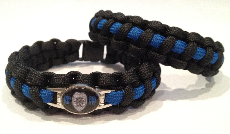 paracord survival bracelet thin blue line or custom designs. Black Bedroom Furniture Sets. Home Design Ideas