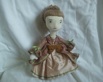 Duchess of Devonshire, a soft sculpture doll