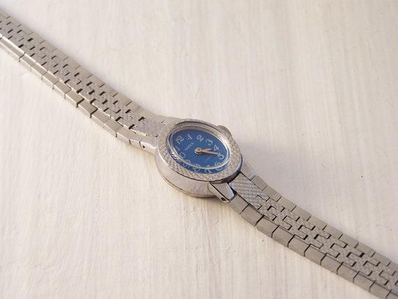 Vintage Watch, Chaika Olympic Watch, Silver Watch, Ladies Watch