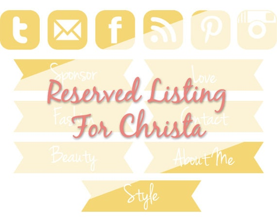 Reserved Listing for Christa