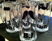 Mustache Beer Mugs (Set of 6)
