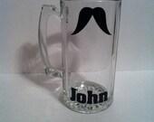 Custom a la carte mustache mug