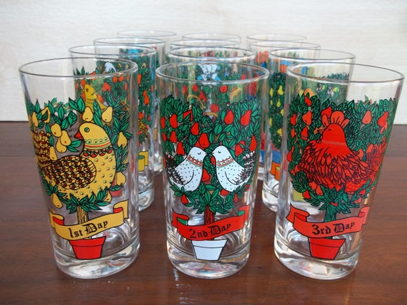 Vintage days of christmas drinking by gorbysartandantiques