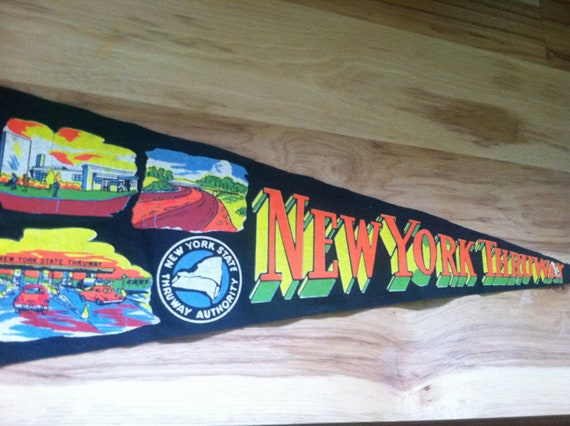 New York State Thruway Pennant -Rare