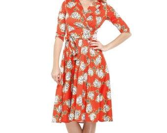 Vintage inspired dress / Rockabilly dress  / Bridesmaid dress / Prom dress / 50s dress