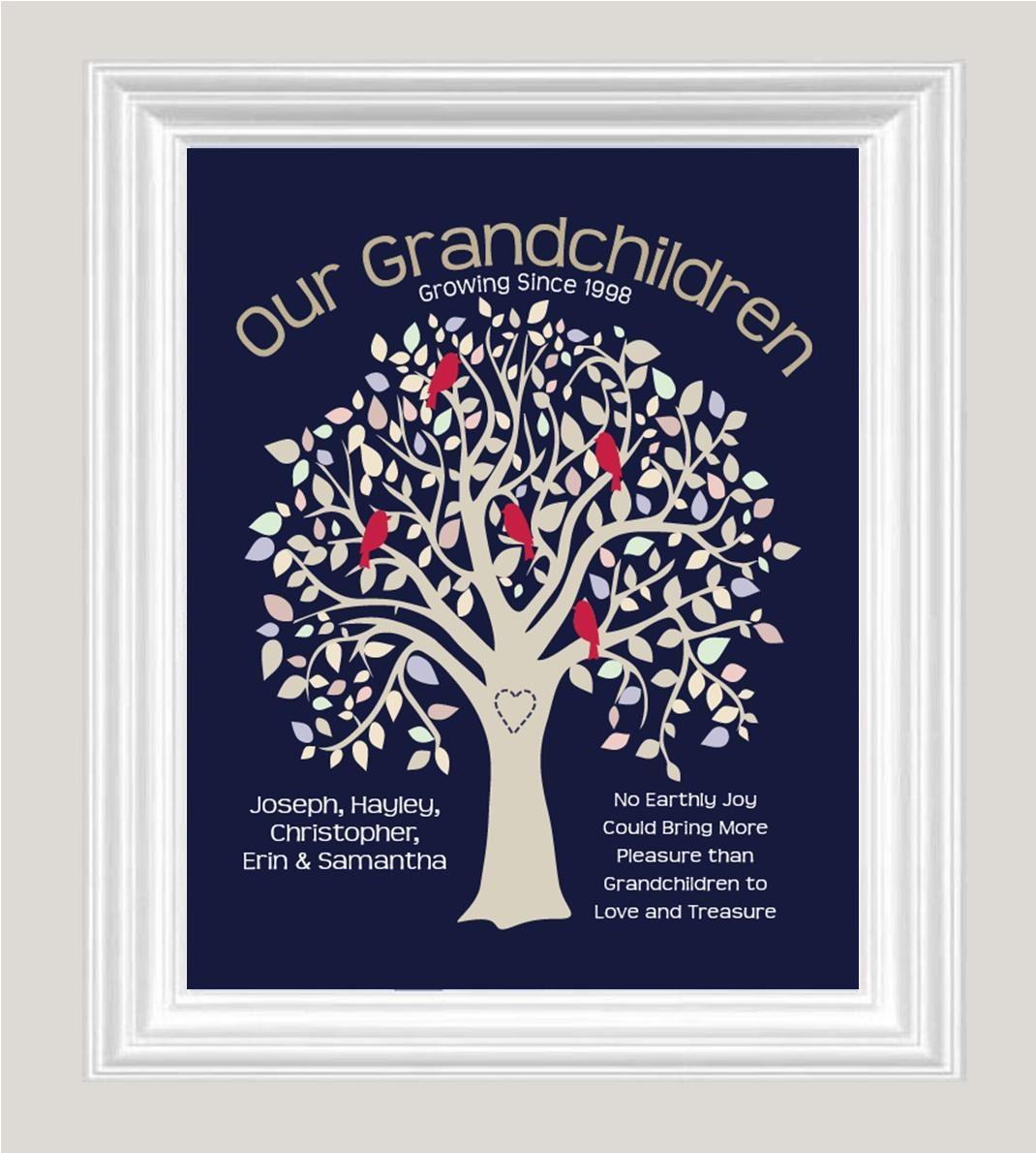 Personalized GRANDPARENTS GIFT Grandma Grandpa Gift Our