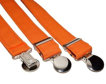 Orange Adjustable Suspenders
