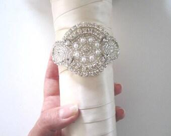 Wedding Bridal Beaded Crystal Bouquet Jewelry Wrap