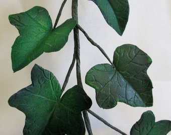 ivy cake topper wedding bridal gumpaste edible sugar leaves foliage keepsake