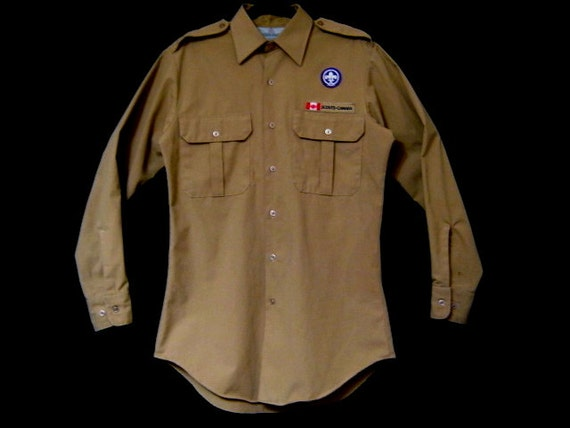 T h r e a d g a m e s /  Be Prepared urban trekker Adult Sz VTG Boy Scouts Canada shirt / bush jacket, hipster badge-ready