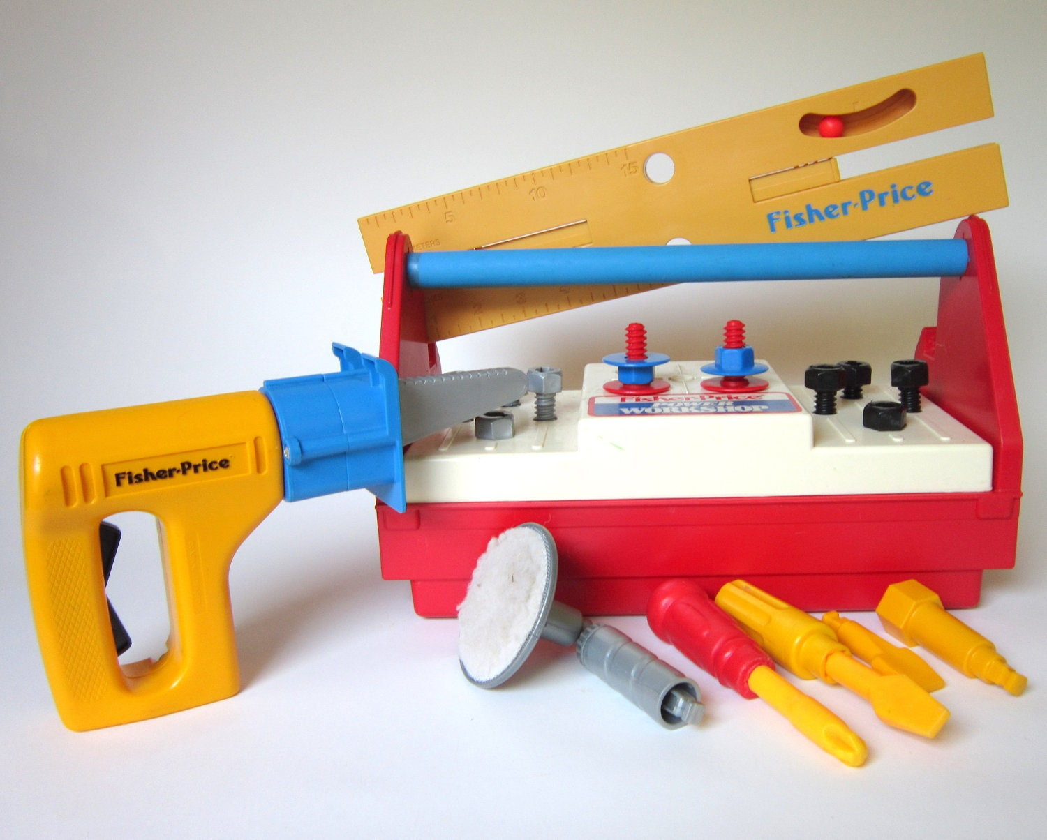 Vintage fisher price power workshop tool box and Fisher price tool bench