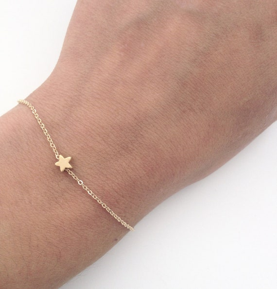 Tiny Star bracelet, Gold star bracelet, Dainty everyday jewelry, gift for her under 20 USD