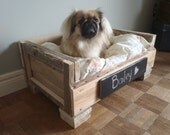 The Bailey. Custom (made to order) Pet Bed. Made of reclaimed wood. Free Shipping.