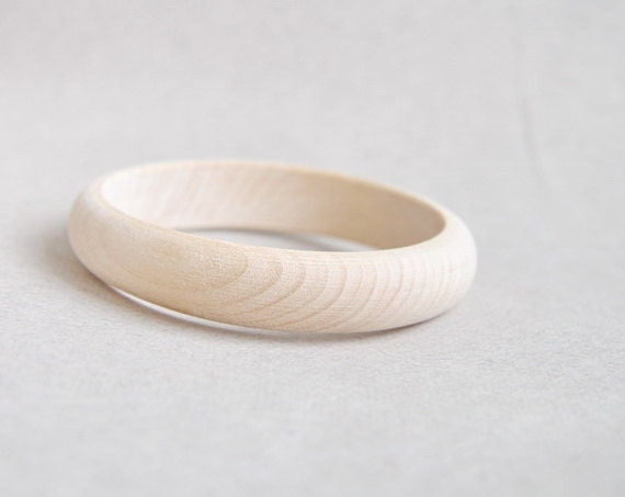 15 mm Wooden bracelet unfinished round - natural eco friendly A15