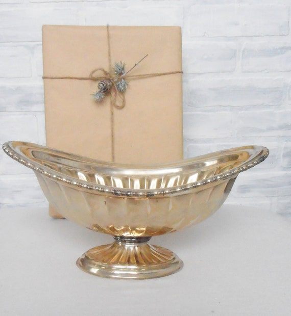 Silver Plated Compote Footed Pedestal Bowl